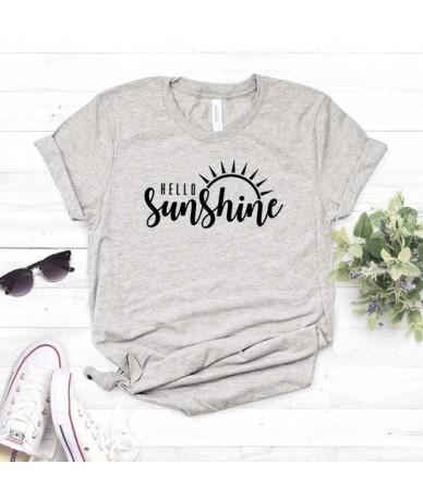 Hello Sunshine Women tshirt Cotton Casual Funny t shirt Gift For Lady Yong Girl Top Tee Drop Ship S-796 - Gray - 474160268811-2