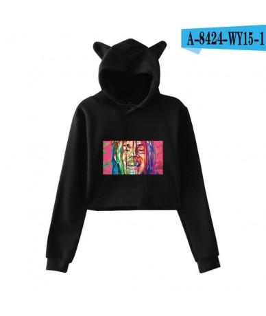 6ix9ine Cat Ear Hoodies Crop Sweatshirt Women Clothes 2019 new Kawaii Hoodies Sweatshirts Leisure Sex Kpop Plus Size Clothes...