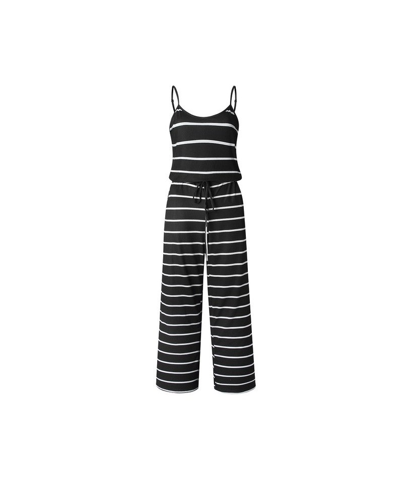More Color Spring Autumn 2019 Jumpsuits For Women Sleeveless Loose Jumpsuit Spaghetti Strap Fashion Printed Sexy Women Jumps...