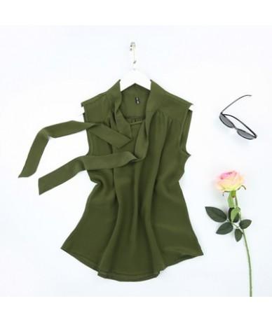 100% natural silk sleeveless top female summer new arrive silk bow loose outer wear vest shirt - Army Green - 4U3029426466-8