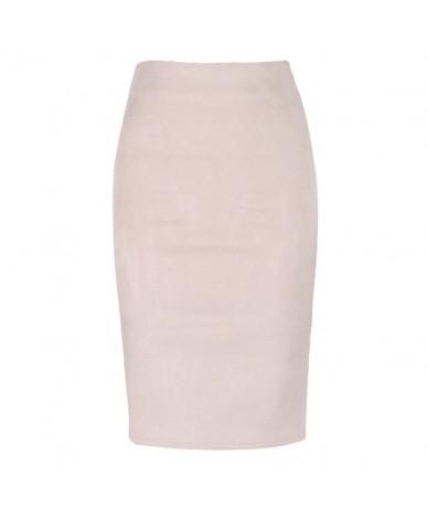 size S M L XL 2018 Women Winter Solid Suede Multi Package Hip Pencil Midi Skirt Autumn Winter Bodycon Femininas - Beige - 4P...