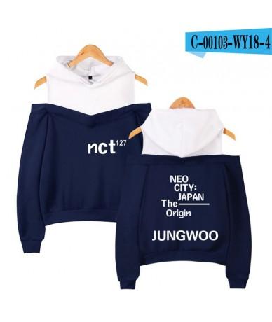 NCT 127 Cool Logo Exclusive Off-shoulder Hoodies Sweatshirt 2019 New Casual Fashion Casual Hip Hot Outwear Hoodies Sweatshir...