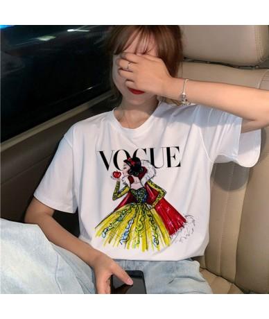 Vogue Princess T Shirt Women Harajuku Ullzang Graphic T-shirt Funny Cartoon 90s Tshirt Aesthetic Korean Style Top Tees Femal...