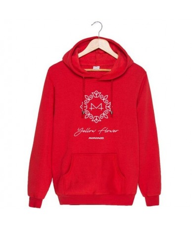 Kpop mamamoo yellow flower cover and member name printing pullover hoodie for fans unisex fleece loose sweatshirt autumn win...
