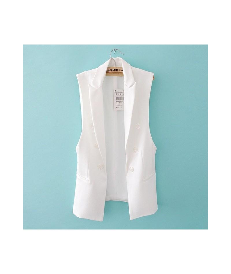 Long Vest Jacket Women Sleeveless Blazer Feminino Quilted Vests Famous Brand Veste Femme Fashion Button Vest Outwear 2019 - ...