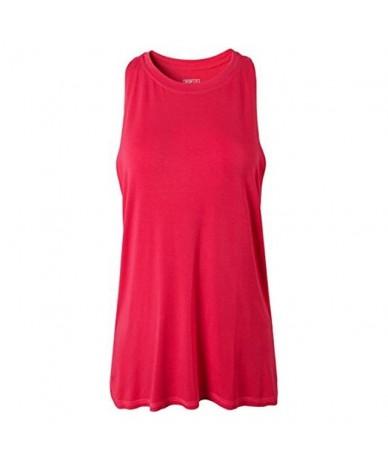 Women's Quick Drying Slim Fit Tank Tops Tanktops Sleeveless Vest Singlet SWT237 BlackBlue - SWT239-RoseRed - 53111140874722-11