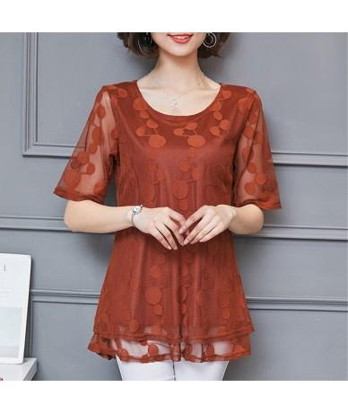 2019 Summer Long Lace shirt Plus Size L-5xl Blouses Women Shirt Blouses shirt Chiffon Women Tops New Fashion Women Blouses 9...