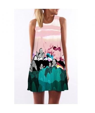 Floral Print Mini Dress Women New Style Sleeveless Summer Chiffon Dress Casual Loose Boho Dresses Vestidos Verano 2018 - Arm...