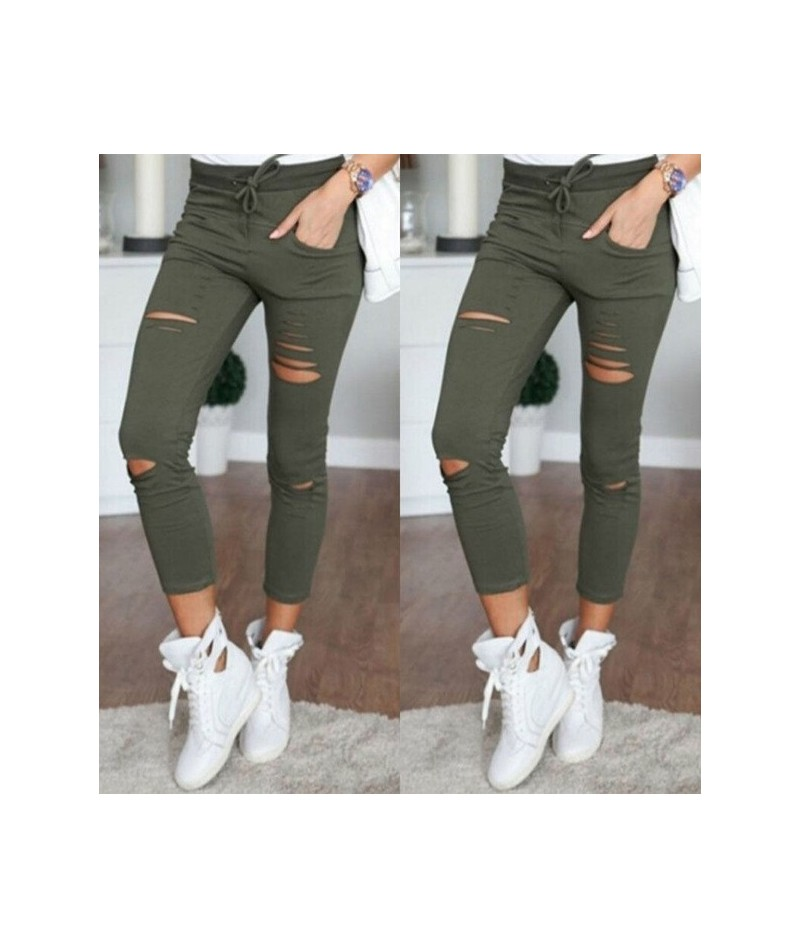 S-4XL New Hole Jeans Leggings Europe and The United States Women Casual Casual Pants Female Cotton Wild Nine Pants Jeans Wom...