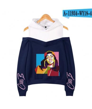 Cardib Cardi B Pink Hoodie Streetwear Hip Hop Off-Shoulder Hooded Sweatshirt Women Clothes Harajuku Girl Hoodies Sweatshirts...
