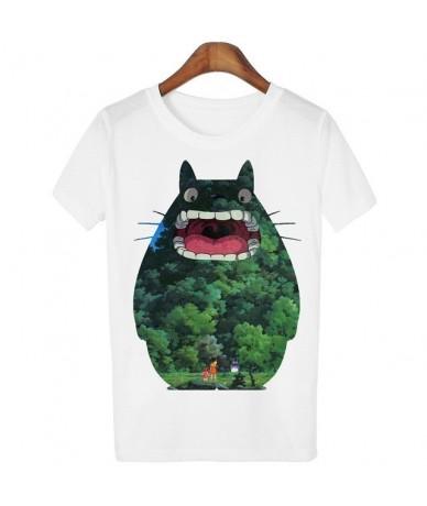 New Cute Totoro T shirt Women Cartoon 3D Harajuku Casual Tops Tees Blusa Plus Size O Neck T-shirt camisetas WMT61 - C16 - 4H...
