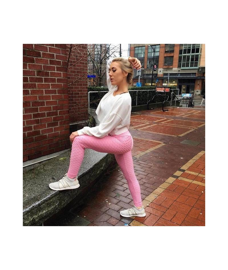 Sexy Push Up Workout Black Leggings Women High Waist Leggins Wrinkle Absorbent Breathable Pants Fashion Fold Women Leggings ...