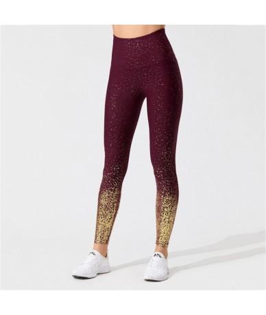 Women Sporting Leggings High Waist Fitness Leggings For Women Running Gym Scrunch Trousers Women's Clothing - Wine - 4S30868...