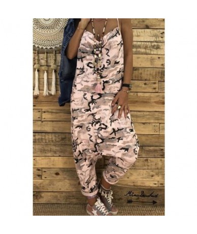 Women Sexy Jumpsuits New Fashion Camouflage Print Spaghetti Strap Jumpsuits Summer V Neck Sleeveless Military Rompers Bigswe...
