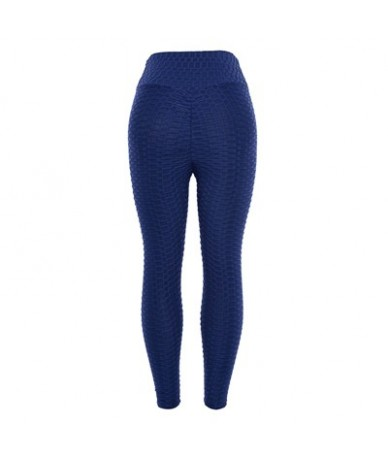 High Waist Solid Women Leggings 2018 Fashion Casual Fold Polyester Ankle-Length Pants Sexy Fitness Leggings For Girl - Navy ...