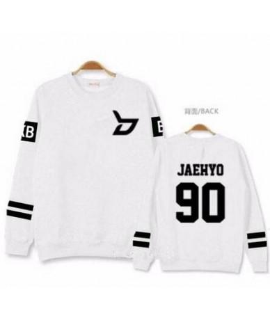 Kpop block b concert same member nname printing o neck sweatshirt unisex zico p.o pullover thin hoodie for spring - 9 - 4R38...