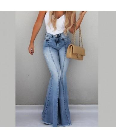 2019 Ladies Denim High Waist Flare Jeans Boyfriend Jeans For Women Skinny Womans Pants Female Wide Leg Mom Jeans Large Sizes...