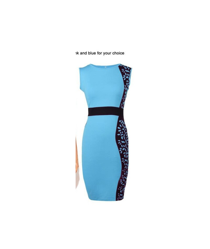 New Fashion Elegant Celeb O-neck Sleeveless Knee-length Patchwork Lace Party Evening Pencil Women Dresses Size S M L XL - Sk...
