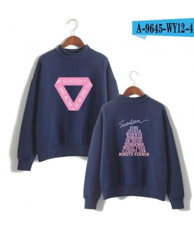 SEVENTEEN 17 Fashion Streetwear Turtlenecks Sweatshirts Women Fashion Fans Capless Sweatshirt Casual Clothes - navy blue - 4...