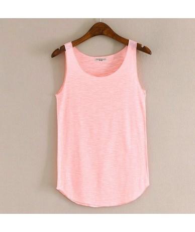 Spring Summer New Fitness Tank Tops Women Sleeveless Round Neck Loose T Shirt Ladies Vest Singlets Slim T-shirts Woman Cloth...