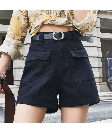 Summer Casual Shorts Women Wide Leg High Waist Loose Shorts Slim All-Match Sporting Shorts Booty Shorts Street Wear Without ...