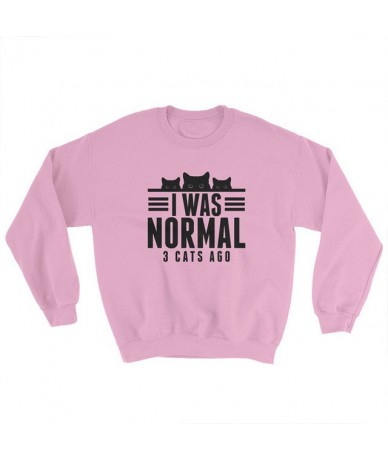 I Was Normal 3 Cats Ago Sweatshirt Women Harajuku Fall Clothes Cat Mom Sweatshirts Kawaii Black Oversized Hoodie O-Neck Jump...