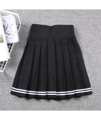 Japanese Cute Pleated Skirt Cosplay Schoolgirl Uniform Harajuku Solid High Elastic Waist Mini Skirt with Shorts Saias Femini...