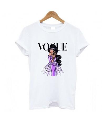 2018 new female fashion summer Princess VOGUE short sleeve loose large code leisure print letter tee punk T-shirt ZSIIBO - 5...