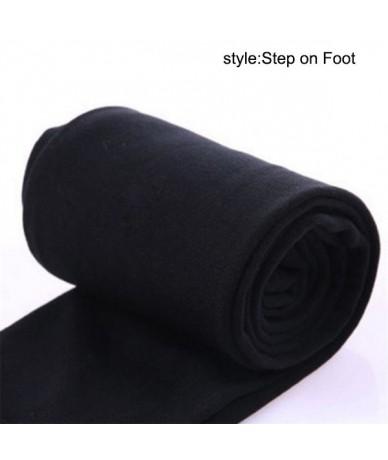 Newly Women Heat Fleece Winter Stretchy sexy Leggings Warm лосины Fleece Lined Slim Thermal Pants shein modis - Black Step o...