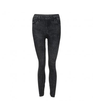 Fashion Women sexy Denim Pants Pocket Slim Leggings Fitness Plus Size Leggins Length 2019 NEW Jeans m806 - Black - 5A1111791...