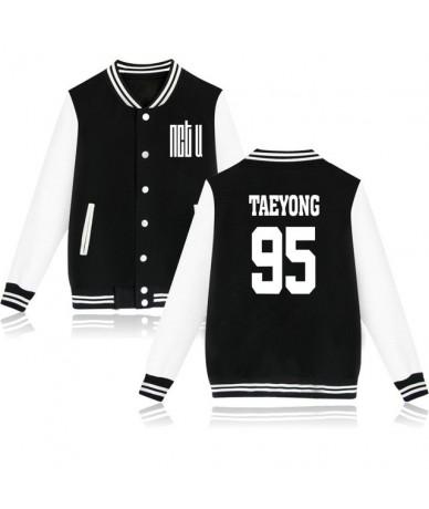 Kpop NCT U Baseball Jacket Women Men Idol Group Album Sweatshirt Member Name Print Hip Hop Hoodies Female Fans Clothes - Bla...