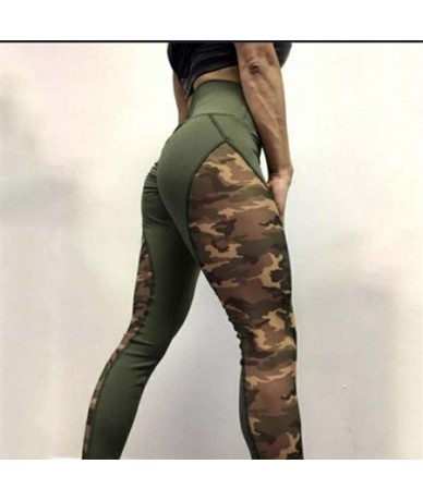 New Fashion 2019 Camouflage Printing Elasticity Leggings Camouflage Fitness Pant Legins Casual Milk Legging For Women - Army...