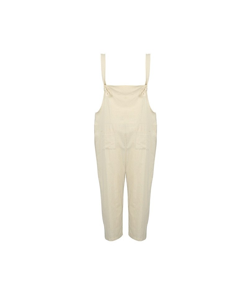 Tracksuit for Women Vintage Cotton Linen Dungarees Loose Jumpsuits Pantsuit Wide Legs Trousers Oversized Overalls Rompers fe...