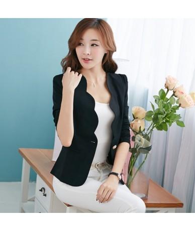 Spring Jacket Women Blazer Feminino Temperament Small Suits Short Women Basic Coats Long Sleeve Casual Blazer Outwear C2971 ...
