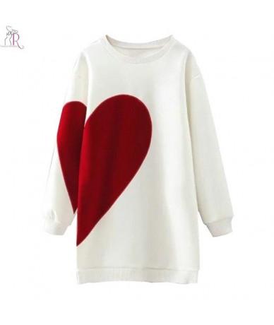 2 Colors Heart Letter Print Long Oversized Sweatshirt Hoodies Long Sleeve Loose Casual Round Neck High Street 2017 Women Fal...