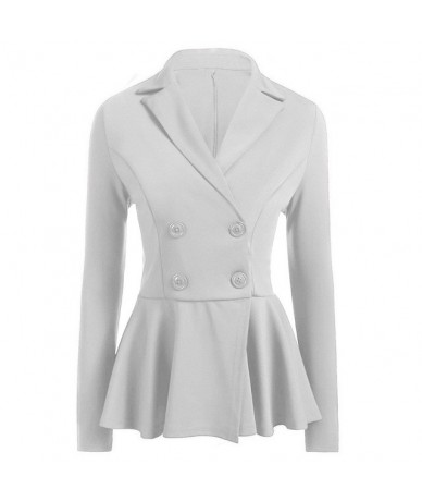 2019 Autumn Office Lady Vintage Women's Blazer Jacket Loose Elegant Thin Suit Coat For Female All Match White Apricot Blazer...