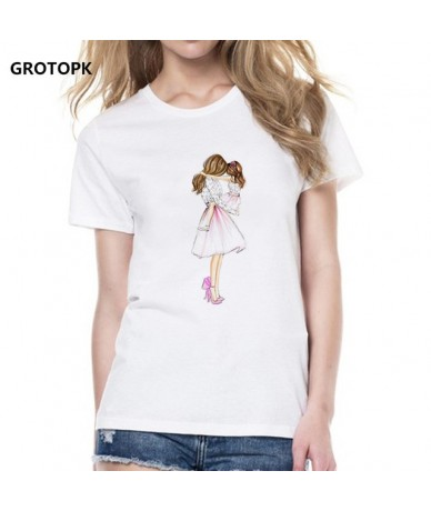 2019 Mommy's Love Female T-shirt Mom and Daughter T Shirt Women Super Mama Print White T-shirt Streetwear Vogue T Shirt Tops...