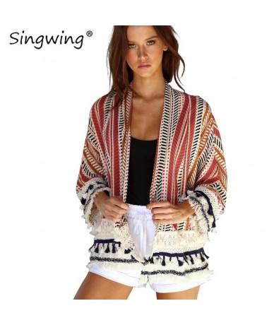 Tassel Lace Stitching Women Cardigan jacket Long Sleeve Open Stitch Coat Jacket Outerwear Fashion Women Coats - red - 4I3944...