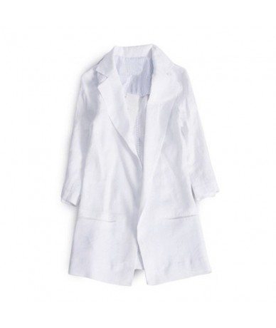Three Quarter Women Blazer 2018 Spring Summer Women Blazers And Jackets Blazer Femme Plus 4XL Blazers Female CJ018 - white -...