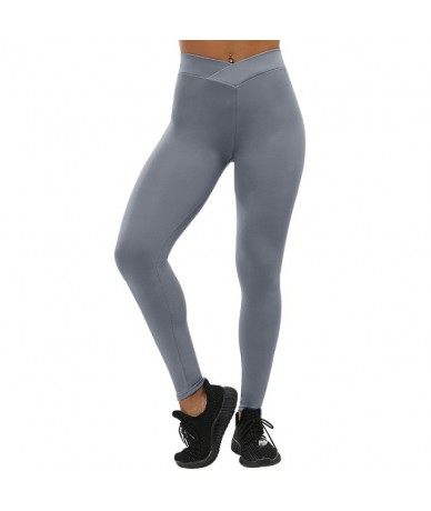 Casual Push Up Fitness Leggings Women Sportswear Workout Legging Jeggings Bodybuilding Slim Leggings Women S-XL - Solid Gray...