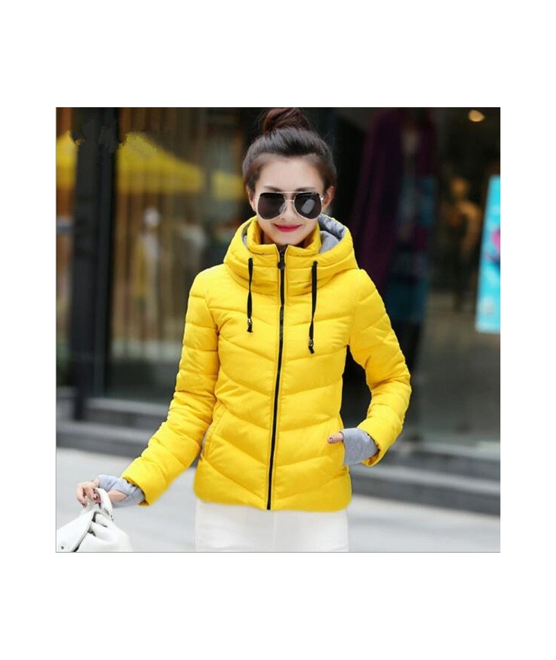Hooded Jacket Winter Women Solid Stylish Womens Basic Jackets Outwear Autumn Short Coat Jaqueta Feminina Inverno 2019 New pa...