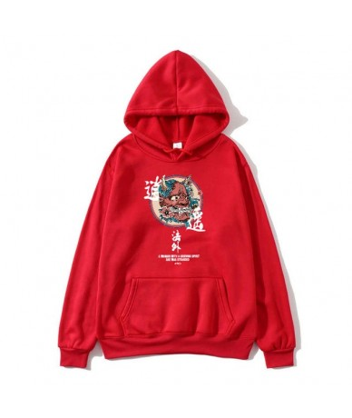 Hip Hop Mens Hoodie Sweatshirt Ghost Chinese Charater Print Harajuku Hoodie Streetwear 2019 Autumn Casual Black Pullover Cot...
