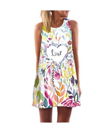 2018 Summer Dress Floral Print Boho Dresses For Women Casual Beach Dress Sleeveless Chiffon Dress Vestidos De Fiesta - 269 -...