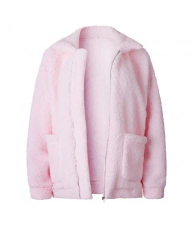 Faux Fur Coat Women Autumn Winter Warm Soft Zipper Fur Jacket Female Plush Overcoat Casual Long Sleeve Fuzzy Outerwear - Pin...