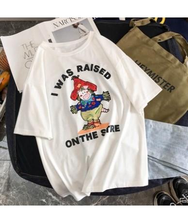 90's Women T shirt Kawaii Casual Tops Summer Cotton Short Sleeve Streetwear Harajuku Vintage Aesthetics Tee Shirt Femme Prin...
