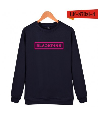 KPOP Korean Fashion Sweatshirt Women Pullover Blackpink Letter Printed Hoodies JENNIE ROSE LISA Pink Fleece Hoodie - 9 - 4U3...