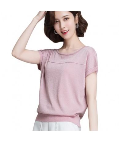 Women Elastic Loose Blouse Shirt Fashion Hot Top Spring Summer Woman O Neck Short Sleeve Casual Cotton Lady Blusas Shirts To...
