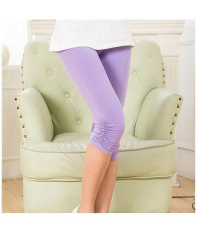 Hot Girls Outer Wear Fashion Leggings Fitness Feminino Large Size Women's Leggings Summer Modal Pants Feet Leggins Mujer 7Z ...