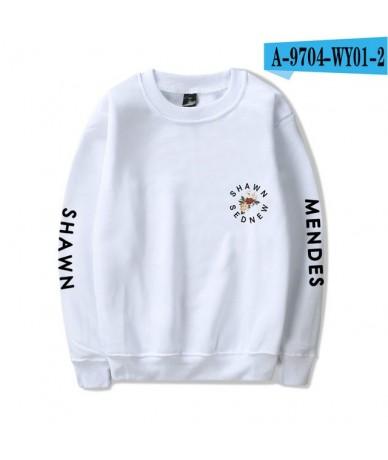 Hip Hop Women And Men Clothes 2018 Capless Hoodies Sweatshirts Harajuku Shawn Mendes Tops Kawaii Harajuku PlusSize - White -...