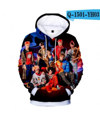 Women's Men's Cotton Plus Size 3D Print Hoodies Sweatshirt Nct 127 Hip Hop Kpop Style Streetwear Winter Coat - B - 444150196...